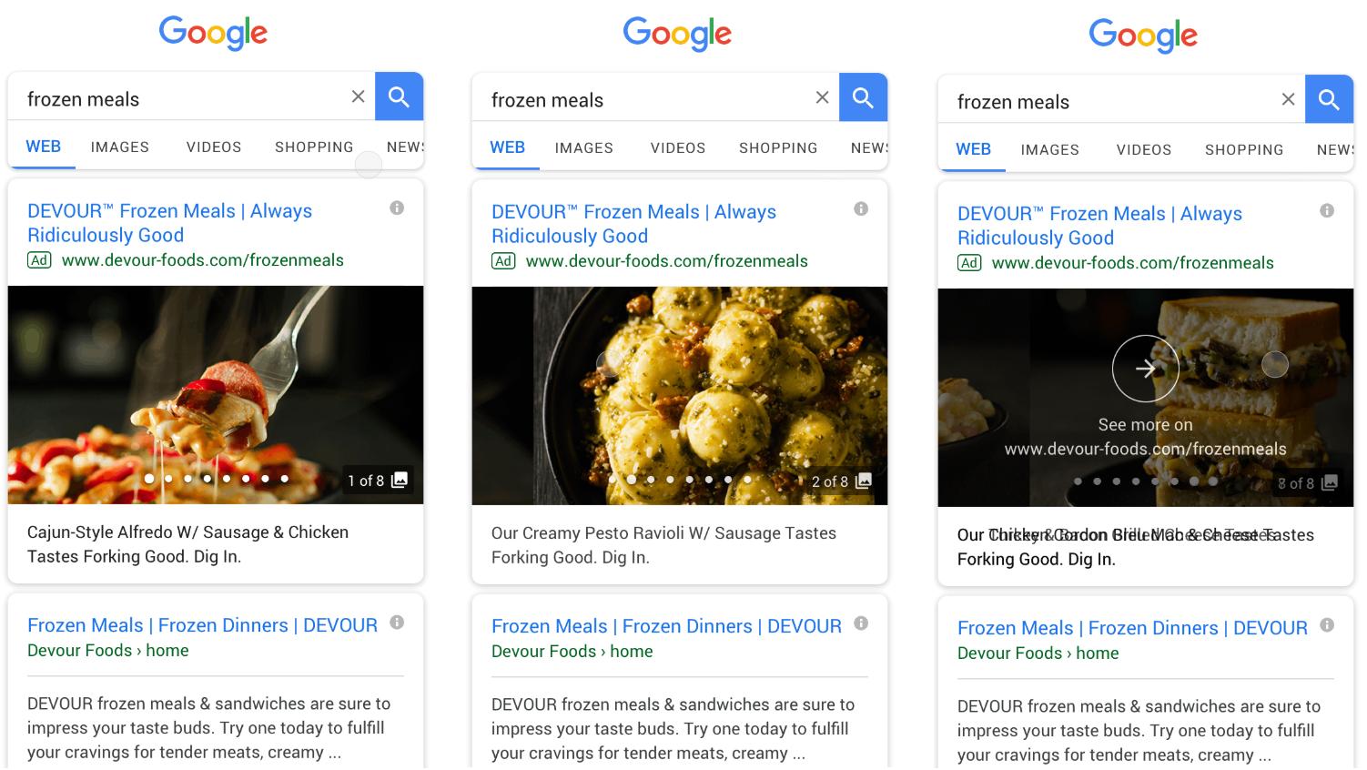 «Галерея» — новый формат «Google Рекламы» для мобильного поиска